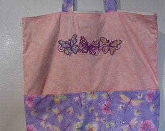 Pastel Butterfly Eco Friendly Tote, Bag, Shopping Bag, Purse