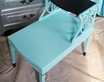 Retro Accent Table Vintage Poppy Cottage Bedside Nightstand/PAIR Available