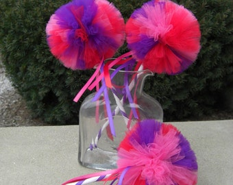 Valentines Day Poof Wand- red wand, purple wand, pink wand- BE MINE Wand- Valentines decorations- party favor- Valentines Day Party
