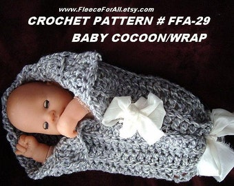 CROCHET PATTERN, baby cocoon wrap, 1 hour project, instant download, quick and easy, baby accessories, photo prop