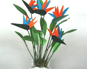 Flower Kit BIRD of PARADISE for dollhouse garden 0R conservatory, scrapbooking, card making,