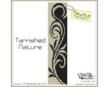 Peyote Pattern for bracelet: Tarnished Nature - INSTANT DOWNLOAD pdf - buy more, save more