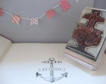 Vintage Anchor Bookplate Stamp - Ex Libris - Library Stamp - Bookworm Gift for Friend - Baby Shower Gift