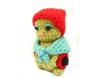 Amigurumi Lady bird bug crochet pattern PDF Children's  stuffed animal homemade gift plush softie toy making tutorial