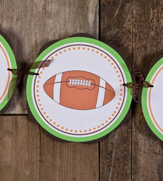 baby shower banner football baby shower decorations in green brown