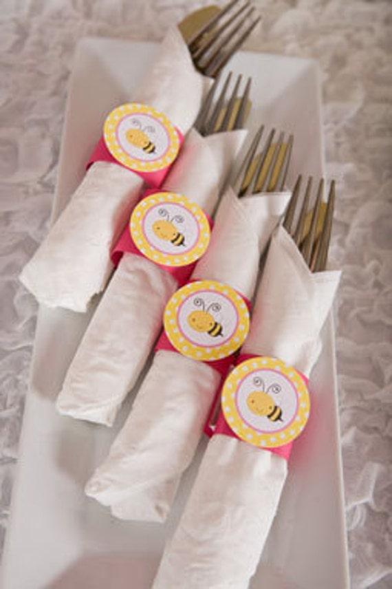 Happy Birthday Napkin Rings Set