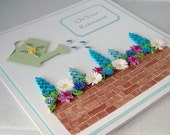 Quilled retirement card - large size