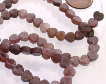 Purple Heart Aventurine Gemstone Beads 6mm 25