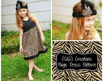 INSTANT Download PDF SIG Paige Dress Pattern - Upcycle Knit Top to Dress Sizes 0-6 month to 14 Youth/Tween