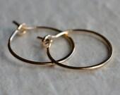 """Gold filled hoop earrings 3/4"""""""