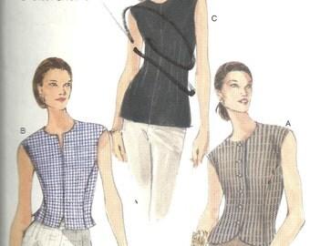 Vogue 9878 Blouse Vest sz 8 10 12