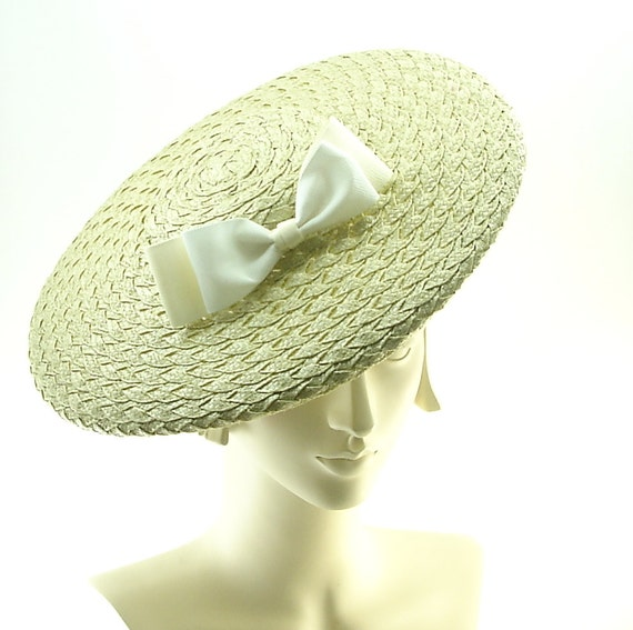 Sage Green Saucer Hat for Women - Vintage Style Boater Hat