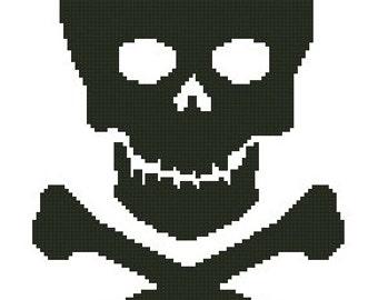 Skull & Crossbones Cross Stitch Kit