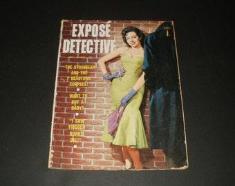 Vintage Expose Detective Magazine June 1958  - Campy Crime Stories - Retro Ads - Scrapbooking Paper Ephemera Vintage Retro Ads