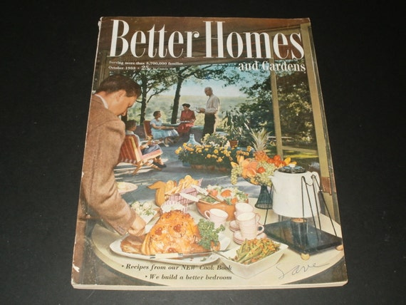 Vintage Better Homes And Gardens Magazine October 1953 A