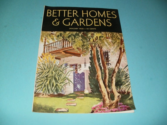 Vintage better homes and gardens magazine january 1935 for Better homes and gardens media kit