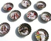 Alice In Wonderland Magnet Set