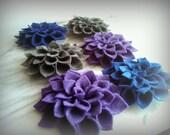 Felt Flower Brooch pin -Choose 3 colors - Dahlia, Fall accessory