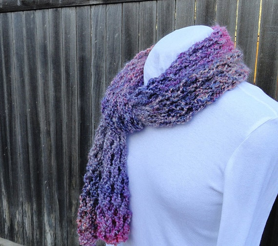 Knitting Pattern Big Scarf : Items similar to Knitting Pattern - Big Lacy Knit Scarf on ...