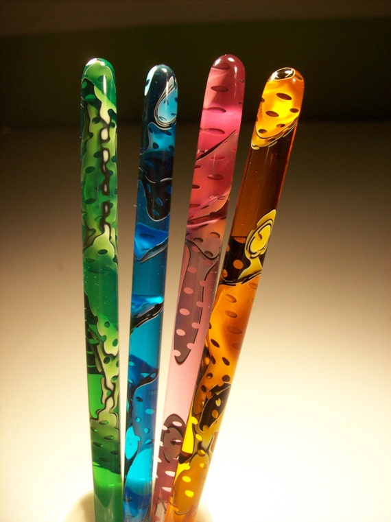 """Mesh water 5"""" 6"""" 7""""  acrylic hair stick you pick color and length."""