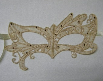 Ivory Lace Adult Masquerade Mask