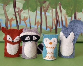 Woodland Friends Finger Puppet Set