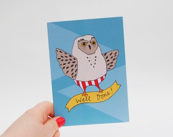 Well Done Owl Card