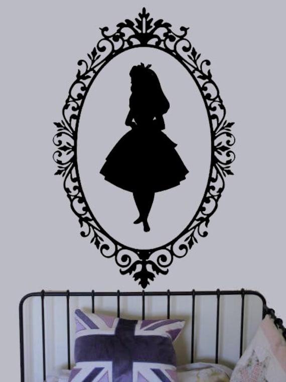 Alice in Wonderland Shadow vinyl decal UK Seller