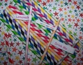Paper Striped Straws Sample Color Mix 22 Paper Straws 2 Of Each Try Some  Fast Ship Free Straw Flags