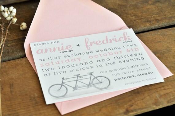 Bicycle Love Wedding Invitation