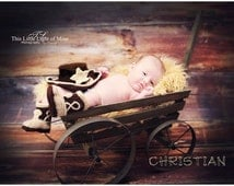 Baby Cowboy Boots - Baby Cowboy Outfit - Baby Cowboy Hat - Baby Photo Prop - Cowboy Hat - Cowboy Boots - crochet cowboy hat - photo prop