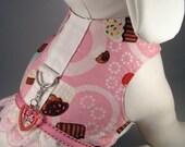 "Dog Harness Vest  ""Cupcake Sweetheart"""