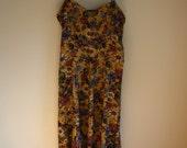 vintage 90s floral rayon tank dress