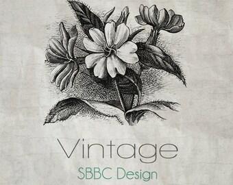 OOAK Etsy Shop Banner Set, Premade Design - Vintage Floral