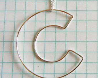 Initial Necklace in sterling silver