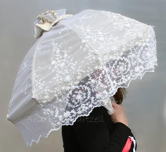 Parasol Vintage Beaded Lace Bridal Parasol