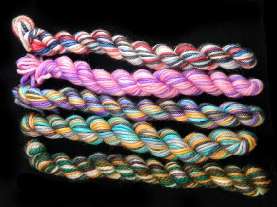 Phativersary Mini Skein Set - Blasts from the past - sock yarn 18yds each