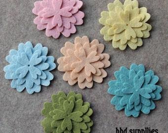 Wool Dream - Verbena - 36 Die Cut Wool Blend Felt Flowers
