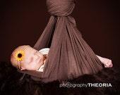 Sunflower Skinny Elastic Baby Girl Headband - Fall Flower Yellow Newborn Photo Prop