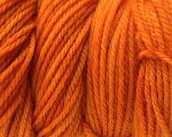 Land Orange DK Sport Weight Hand Dyed Merino Wool Yarn