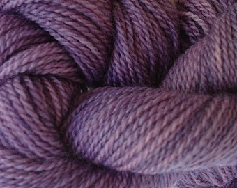 Merino Wool Yarn Lace Weight in Violet Purple Hand Painted