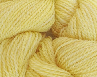 Merino Wool Yarn Lace Weight in Tango Yellow Hand Painted
