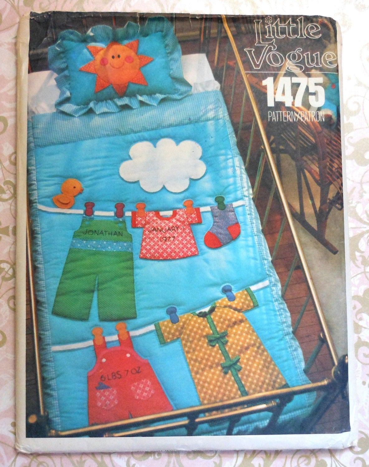 Vogue Baby Quilt and Pillow Sham Sewing Pattern UNCUT 1475