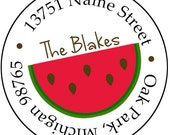 Summer Watermelon Return Address Labels Stickers