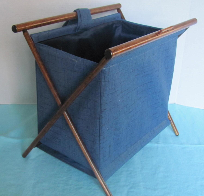 Vintage Folding Knitting Basket : Reserved vintage folding knitting needlework basket tote