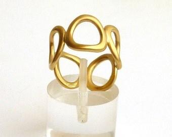 Gold Ring, gold band ring, 18K Gold Ring,18K Gold jewelry - sz 6.0
