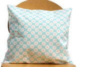 Pillow retro blue flowers pink one 18 x 18 inch daisy cushion cover decorative accent pillow girl mum mom