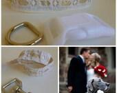 Wedding Dog Collar and Leash - Custom Made Order - thedoggiehouse