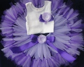 Sweet Purple Baby Birthday Tutu Dress