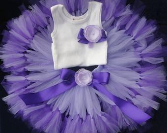 Sweet Purple Baby Birthday Tutu Dress